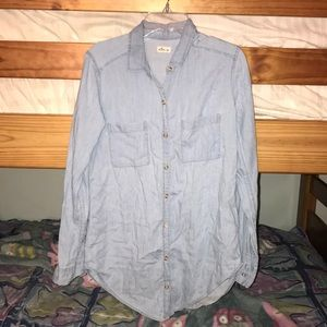 Unworn chambray button down shirt from Hollister
